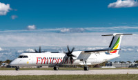 ニュース画像:エチオピア航空、DHC-8-400を2機受領 計30機に
