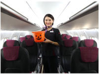 北海道エアシステム、ハロウィンで特別機内サービス 菓子プレゼントの画像