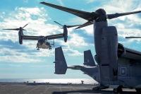 ニュース画像:CV-22Bオスプレイ「かが」初着艦 キーンソード始まる