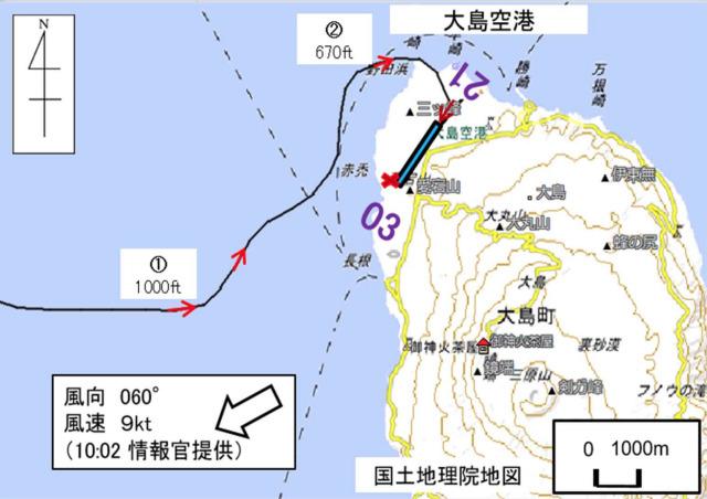 ニュース画像 1枚目:発生当時の推定飛行経路