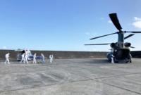 ニュース画像:南西航空方面隊、徳之島の自治体とコロナ患者輸送訓練