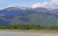 新明和XU-S、佐渡空港での電波伝搬特性試験で飛行の画像