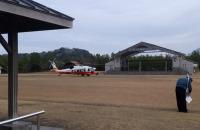 ニュース画像:第51回桜島火山爆発総合防災訓練、海保・自衛隊・警察ヘリ参加