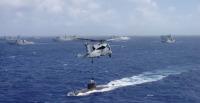ニュース画像:海自とアメリカ海軍、四国南方海空域で対潜訓練