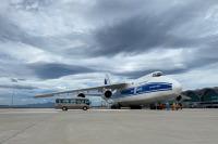 ヴォルガ・ドニエプルAn-124、ノボシビルスク緊急着陸で滑走路逸脱の画像