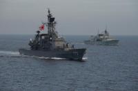 ニュース画像:海自しまかぜ、カナダ・ウィニペグと共同訓練を実施