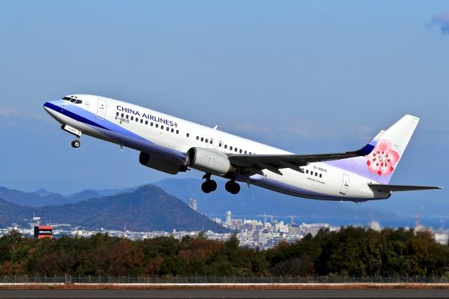 ニュース画像 1枚目:高松空港でのチャイナエアライン (くれないさん撮影)