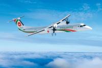 ニュース画像:デハビランド・カナダ、ビーマンにDHC-8-400新造機を引き渡し