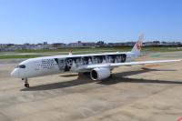 ニュース画像 14枚目:「嵐ジェット ありがとう『20th ARASHI THANKS JET』」 JA04XJ  エアバスA350-900型機  左面に描かれた現在の「嵐」 (NH642さん撮影)