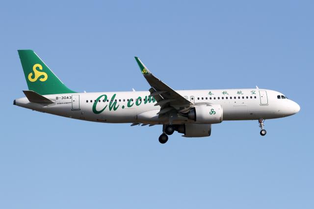 ニュース画像 1枚目:春秋航空 A320neo イメージ (Echo-Kiloさん撮影)