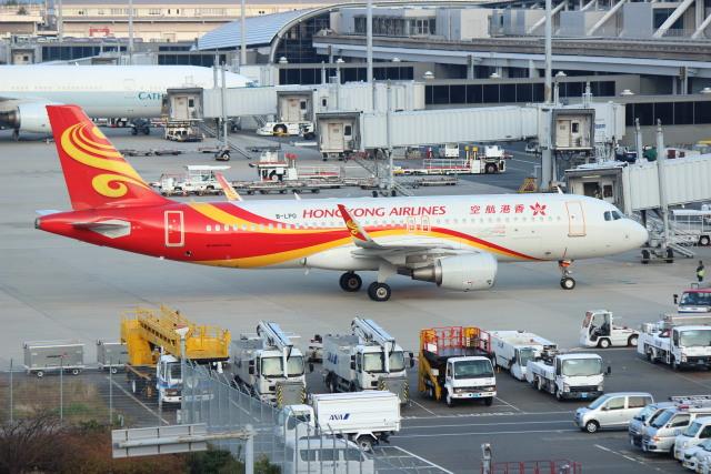 ニュース画像 1枚目:関西国際空港での香港航空 A320 イメージ (水月さん撮影)