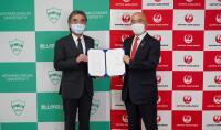 ニュース画像:JAL、青山学院大学と連携協定 国際的人材育成めざす