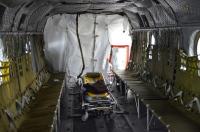 ニュース画像 2枚目:コロナ陽性者輸送時のCH-47JA機内イメージ