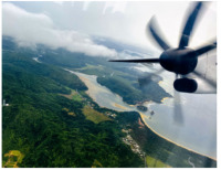 ニュース画像:琉球エアーコミューター、西表島上空で環境学習遊覧飛行