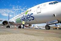 ニュース画像:ユナイテッド航空、温室効果ガス排出ゼロ CO2回収技術に投資