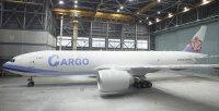 ニュース画像:チャイナエアライン、777貨物機初号機を披露