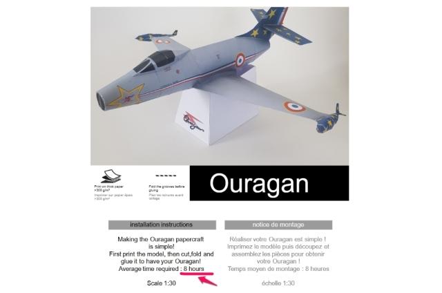 ニュース画像 5枚目:ダッソー 作れる紙飛行機「MD.450 ウーラガン (Ouragan) 」