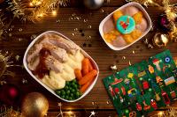 エミレーツ航空、コロナ禍でも機内食でクリスマスメニュー提供の画像
