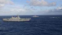 海自ひゅうが、沖ノ鳥島周辺で仏・原潜含め日米仏共同訓練の画像