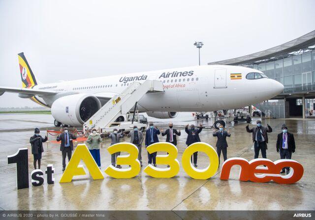 ニュース画像 1枚目:ウガンダ・エアラインズ、A330-800受領式典