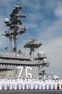 ニュース画像:USSロナルド・レーガン、10月2日に横須賀へ入港予定