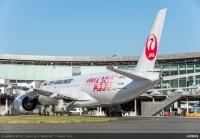 JAL、8機目のA350を受領 羽田に到着の画像