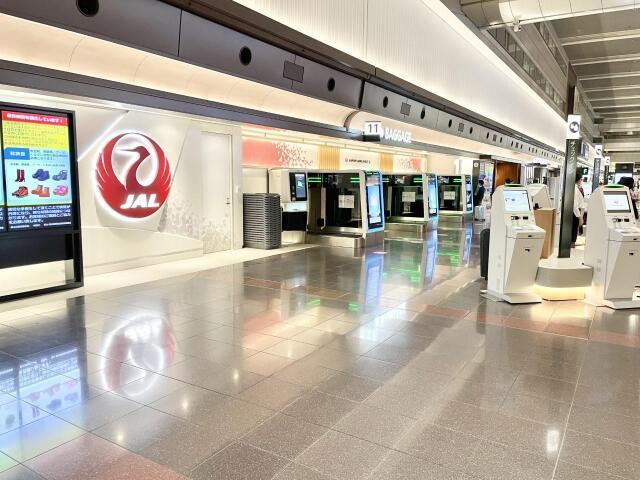 ニュース画像 1枚目:JAL全面オープンした羽田空港の国内線カウンター