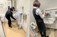ニュース画像:長崎空港クリーンアップデー、コロナ感染拡大防止策で消毒や一斉清掃