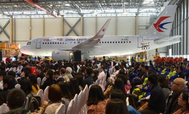 ニュース画像 1枚目:天津工場のA320ファミリー200機目