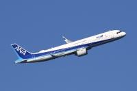 ニュース画像:ANA、A321neo「JA144A」受領 羽田到着