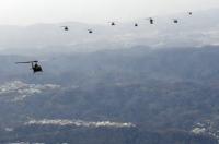 ニュース画像:立川駐屯地の陸自部隊、1月18日に航空隊年始編隊飛行訓練