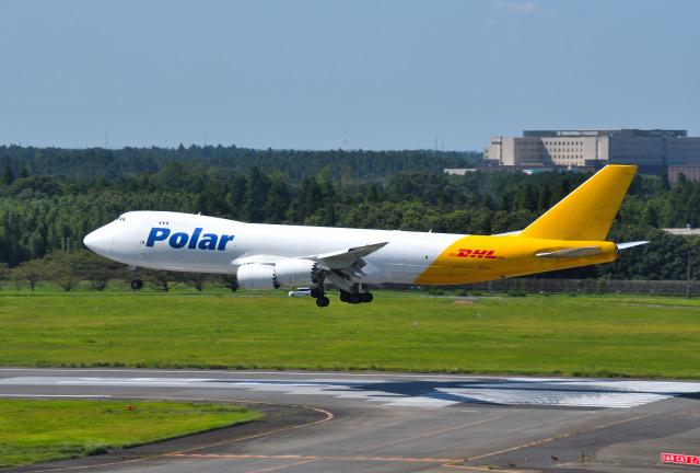 ニュース画像 1枚目:アトラス・エア・ワールドワイド傘下のポーラーエアがDHL向けに運航する747-8F (mojioさん撮影)