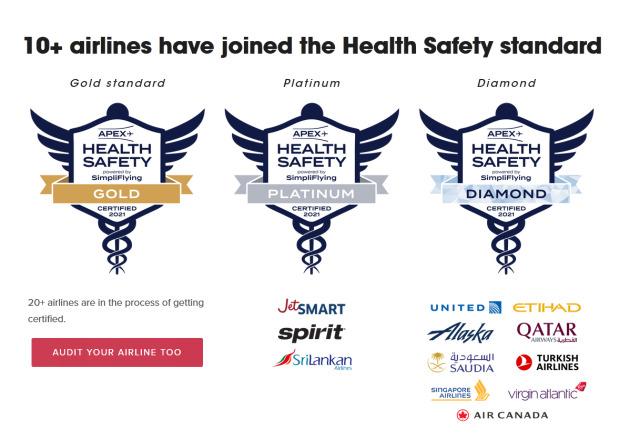 ニュース画像 1枚目:APEXとSimpliFlying社による衛生安全基準「APEX Health Safety」