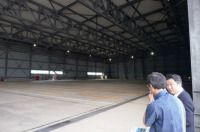 那覇空港、屋根付き台風時避難用エプロン 有効活用への画像