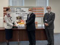AIRDO、「子ども食堂」に機内サービス商品を寄贈の画像