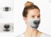 フロンティア航空、尾翼塗装の動物がマスクに 日本からも購入可の画像