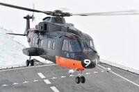 ニュース画像:砕氷艦「しらせ」、昭和基地離岸 CH-101輸送任務を完遂
