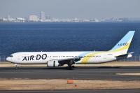 AIRDO、767初号機「JA98AD」 ラストフライトで羽田到着の画像