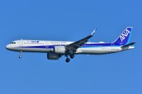 ANA、A321neo「JA144A」受領 羽田到着の画像