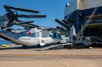 木更津駐屯地に暫定配備するV-22オスプレイ5機、日本へ向け出発の画像