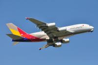 アシアナA380、宮崎上空へ 免税ショッピング満喫チャーター便での画像