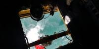 ニュース画像 2枚目:上空からの取水風景