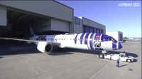 ニュース画像:「R2-D2 ANA JET」がロールアウト!「R2-D2」も駆けつける