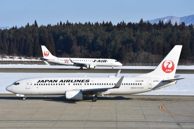 ニュース画像 1枚目:秋田空港でのJAL イメージ (空が大好き!さん撮影)