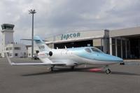 ニュース画像:岡山航空のホンダジェット、滑走路逸脱 重大インシデントに認定