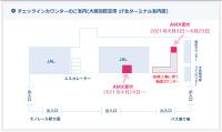 ニュース画像:天草エアライン、伊丹空港チェックインカウンターを一時移転