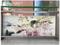 ニュース画像:関空、マンガ家によるアート作品展示 「巡礼の道」など文化資源がテーマ