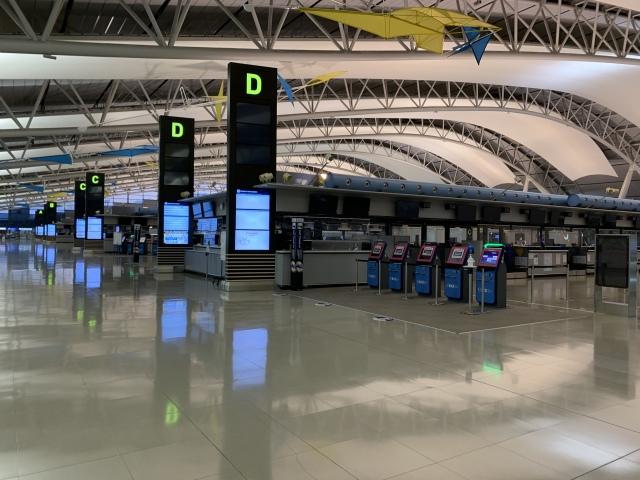 ニュース画像 1枚目:閑散とする関西国際空港の様子(ANA2179さん撮影)