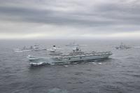 ニュース画像:クイーン・エリザベス空母打撃群、構成固まる オランダ海軍も参加