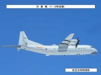 ニュース画像:中国海軍の空母「遼寧」とY-9対潜哨戒機、宮古海峡通過で自衛隊が対応